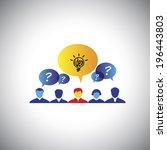 brainstorming  leader  ... | Shutterstock .eps vector #196443803