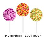 Three Lolly Pops In Front Of...
