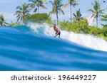 picture of surfing a wave. bali ... | Shutterstock . vector #196449227