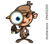 agent,art,background,big,brown,cartoon,character,clip,coat,crime,cute,detection,detective,drawing,evidence