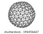 fullerene molecular model c540... | Shutterstock . vector #196456667
