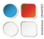 striped stickers  button | Shutterstock . vector #196469507