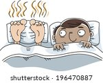 a cartoon man is unable to... | Shutterstock .eps vector #196470887