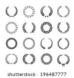 set of black and white... | Shutterstock . vector #196487777