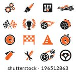 racing icons | Shutterstock .eps vector #196512863