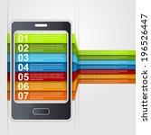 infographic smartphone design...