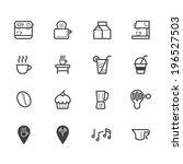coffee cafe element vector... | Shutterstock .eps vector #196527503
