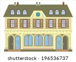 old house with a cafe on the... | Shutterstock .eps vector #196536737