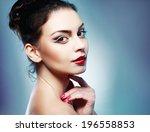 close up of beautiful female...   Shutterstock . vector #196558853