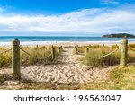 Entrance To The Beach In...