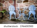 Blue Painted Metal Outdoor...