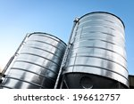 two large grain silos