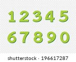 numbers set in illustration  ... | Shutterstock .eps vector #196617287