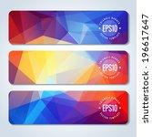 colorful website header or... | Shutterstock .eps vector #196617647