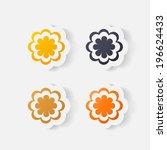 realistic paper sticker ...   Shutterstock . vector #196624433