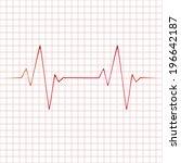 vector heart beats cardiogram... | Shutterstock .eps vector #196642187