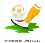 kicking the ball vector