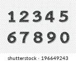 numbers set. illustration | Shutterstock .eps vector #196649243