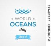 world oceans day   Shutterstock .eps vector #196659653