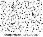 music notes on white background | Shutterstock .eps vector #196673987