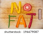 no fat  word written with... | Shutterstock . vector #196679087