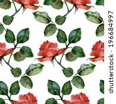 Seamless Background With Roses...