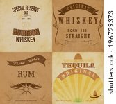 vintage alcohol labels set.... | Shutterstock .eps vector #196729373