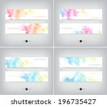 vector banners collection with... | Shutterstock .eps vector #196735427