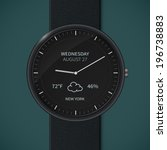 smartwatch interface template....