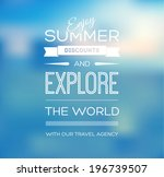 vector blurry soft blue summer... | Shutterstock .eps vector #196739507
