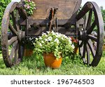 Wooden Cart With Flowers