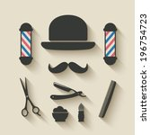 barber icon set - vector illustration. eps 10