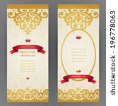 vintage ornate cards with with... | Shutterstock .eps vector #196778063