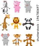 animal cartoon posing | Shutterstock . vector #196780697