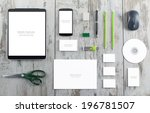 mockup business template | Shutterstock . vector #196781507