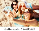 summer holidays  vacation and... | Shutterstock . vector #196783673