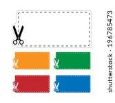 blank coupons set. vector | Shutterstock .eps vector #196785473