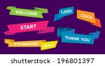 a vector illustration of a set... | Shutterstock .eps vector #196801397