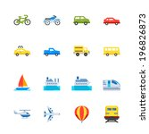 transportation and vehicles... | Shutterstock .eps vector #196826873