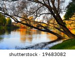 autumn landscape of lake and... | Shutterstock . vector #19683082