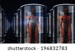 androids in storage or... | Shutterstock . vector #196832783