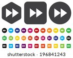 fast forward button   Shutterstock .eps vector #196841243