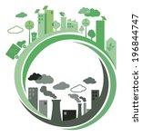 green ecology city against... | Shutterstock .eps vector #196844747