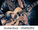 guitar player  vintage filtered ... | Shutterstock . vector #196850393