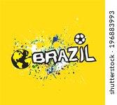 brazil header design on grunge... | Shutterstock .eps vector #196883993