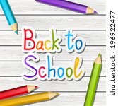 back to school message on... | Shutterstock .eps vector #196922477