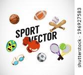 sport equipments   vector... | Shutterstock .eps vector #196927583