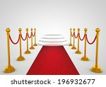 winner podium with red carpet | Shutterstock . vector #196932677