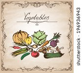 collection of hand drawn... | Shutterstock .eps vector #196936943