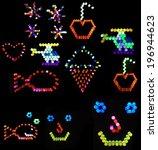 compilation of backlit colored... | Shutterstock . vector #196944623